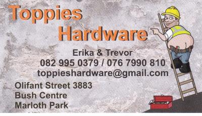 Toppies hardware
